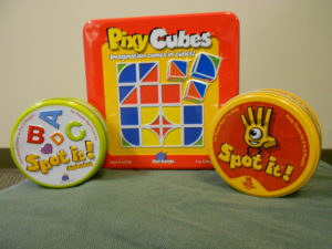 Pixy Cubes and Spot it!